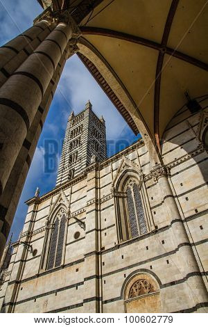 Siena Cathedral Tower Through Arch-siena,italy