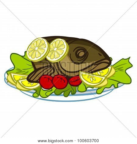 Symbol Of Rosh Hashanah (jewish New Year). Vector Illustration