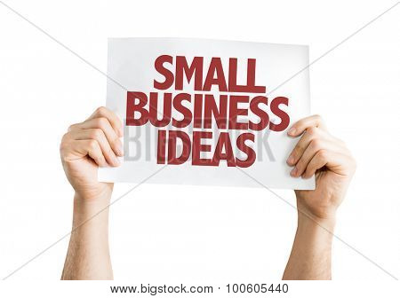 Small Business Ideas placard isolated on white