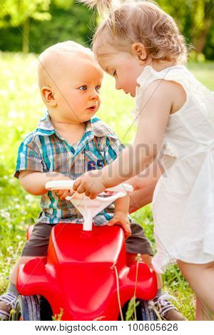 summer kids playing outdoors