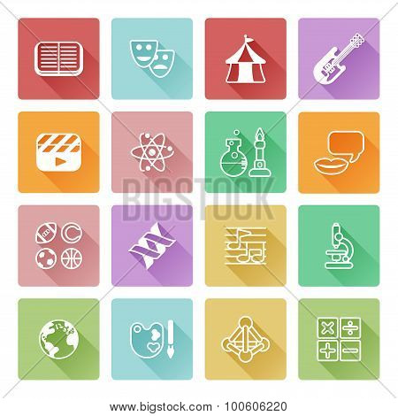 Quiz Or Education Subject Icons