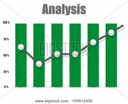 Business Analysis symbol icon and chart