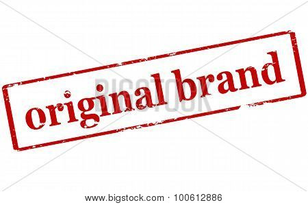 Rubber stamp with text original brand inside vector illustration