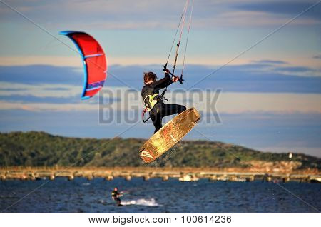Kite Surfer Air Tricks