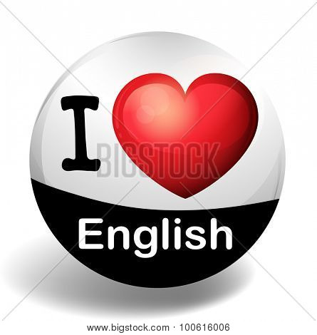 I love English on the badge