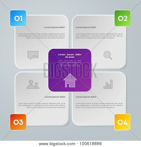 Vector colorful info graphic