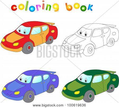 Funny Cartoon Car.
