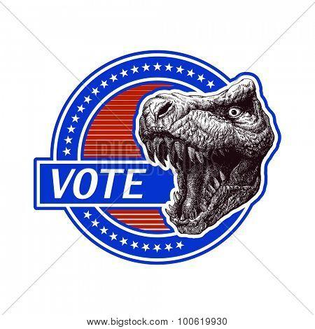 Vote. Politic plakat. Vector illustration.