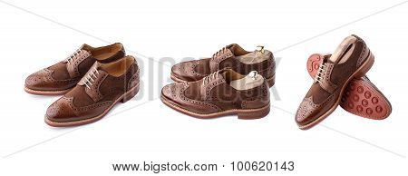 Brogues Set Isolated