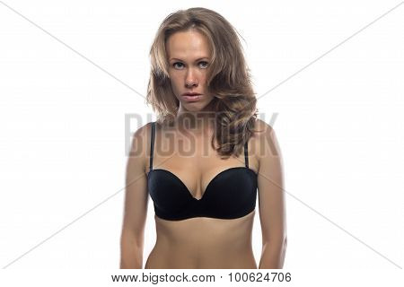 Photo of woman looking askance