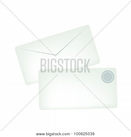 White Greeting Cards With A Gold Stamp