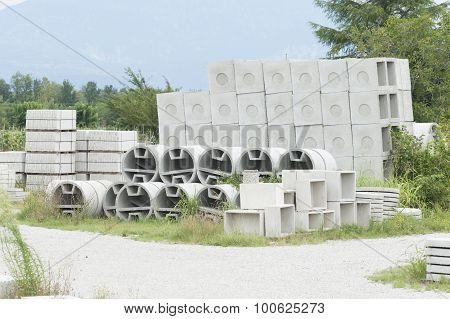 Deposit Of Prefabricated Concrete
