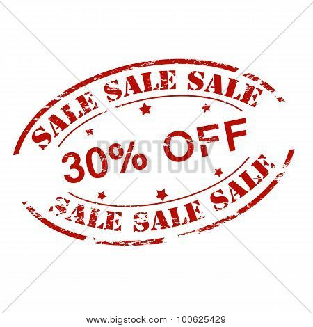 Sale Thirty Percent Off