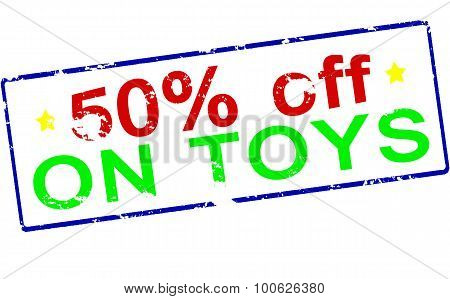 Fifty Percent Off On Toys