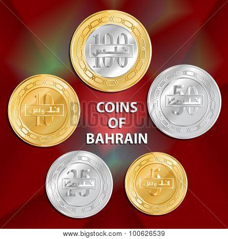Vector Coins Of Bahrain