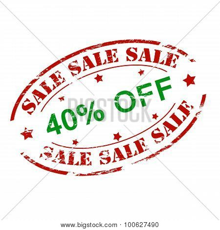 Sale Fourty Percent Off