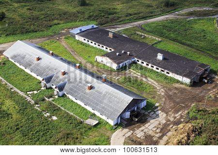 outbuildings on the farm