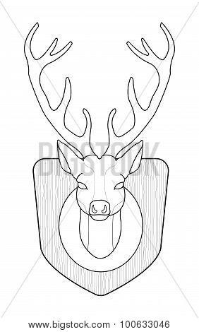 Deer Head. Contour
