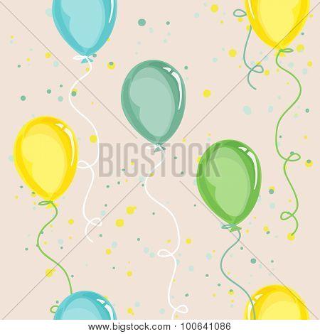 Baby Birthday Background - seamless pattern
