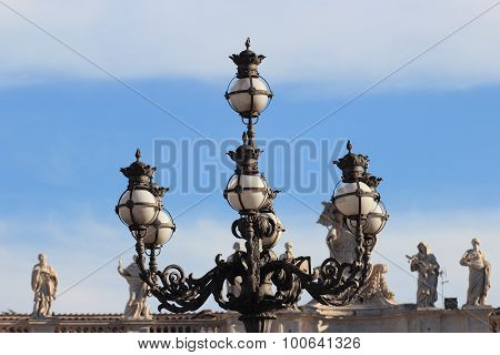 Street Lamp In St Peter Square