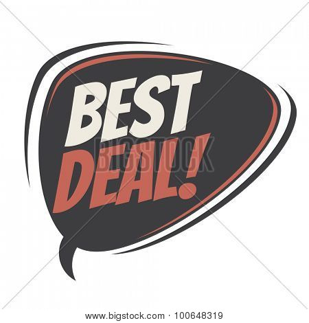 best deal retro speech bubble