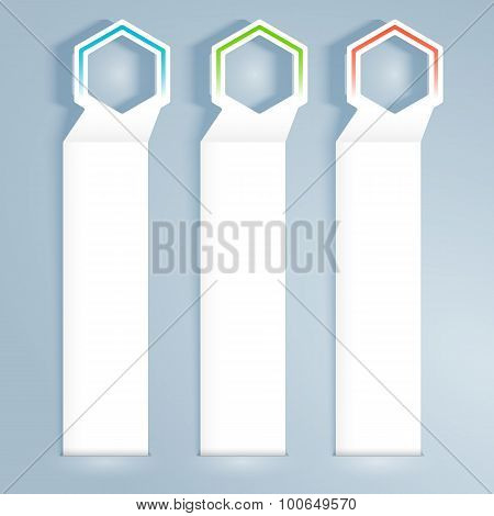Banner-vertical-effect-paper-gray-background