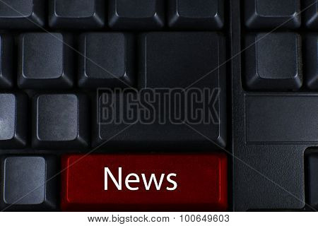 Close up of News keyboard button
