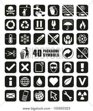 Collection of Packaging Symbols