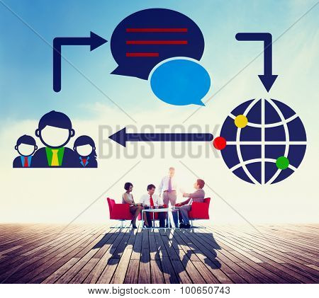 Global Communications Connection Social Networking Concept
