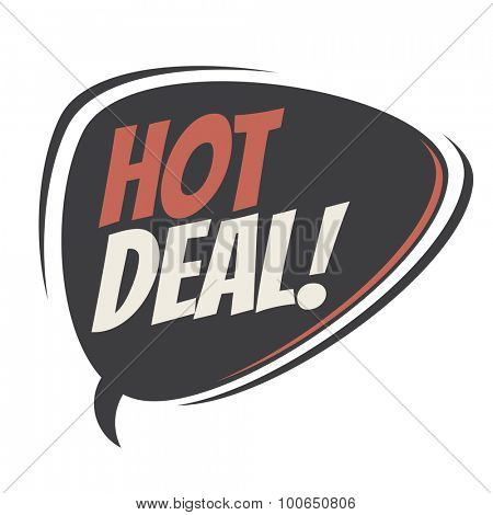 hot deal retro speech balloon