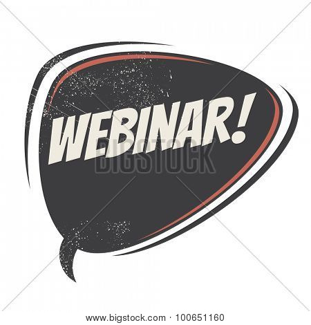 webinar retro speech bubble