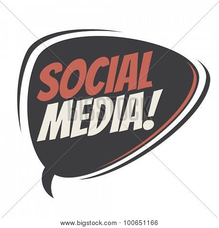 social media retro speech balloon