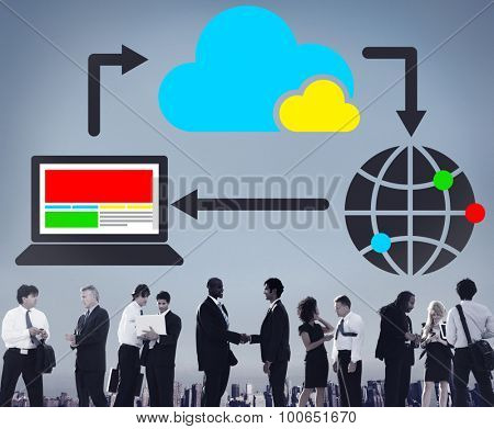 Cloud Computing Data Information Network Concept