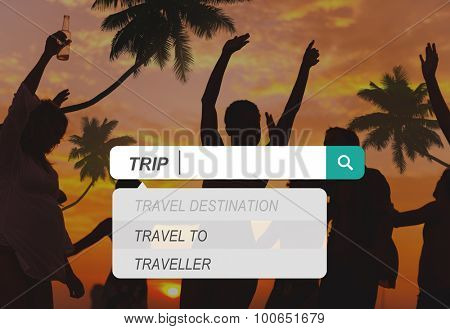 Trip Vacation Holiday Tourism Destination Leisure Concept