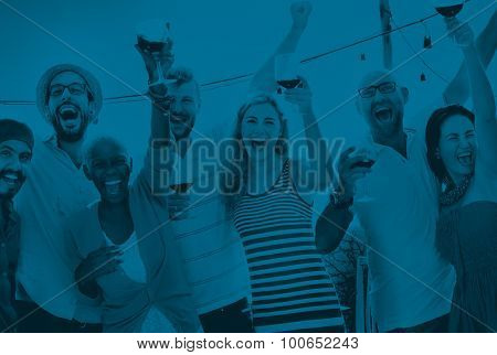 Friends Friendship Celebration Outdoors Party Concept