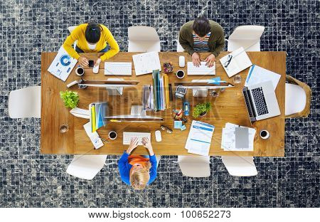 Business People Office Working Place of Work Concept