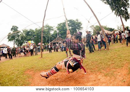The Akha Swing Festival.