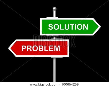 Solution And Problem Road Sign