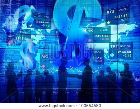 Business People Meeting Stock Exchange Concepts