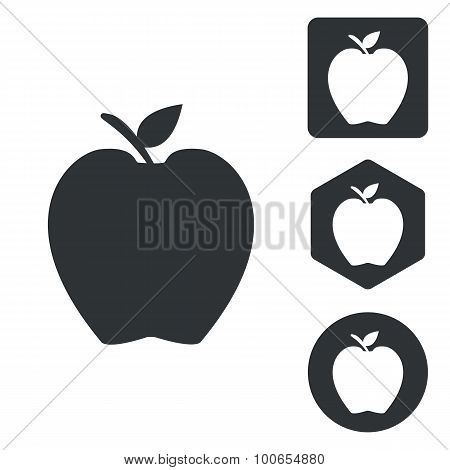 Apple icon set, monochrome