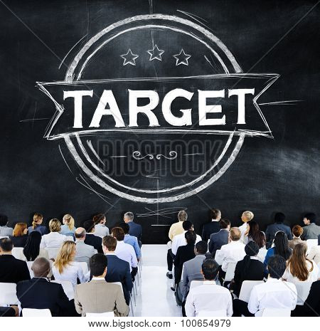 Target Goal Aim Objective Meeting Seminar Conference Concept