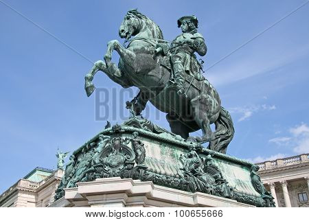 Statue Of Prince Eugene In Front Of Hofburg Palace, Vienna, Austria