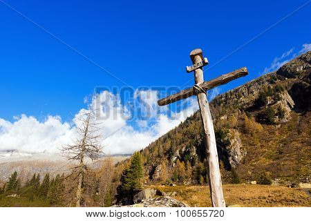Wooden Cross - Italian Alps