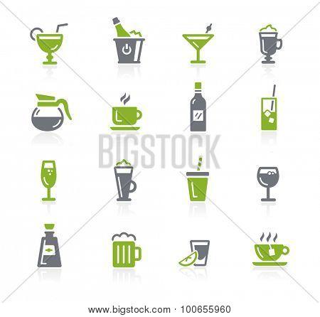 Drinks Icons // Natura Series