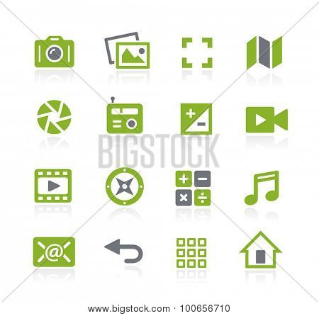 Media Interface Icons // Natura Series