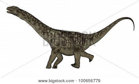 Argentinosaurus dinosaur running - 3D render