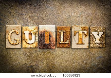 Guilty Concept Letterpress Leather Theme