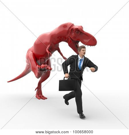 dinosaur hunting for a businessman