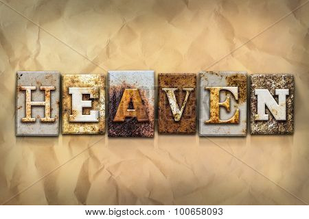 Heaven Concept Rusted Metal Type