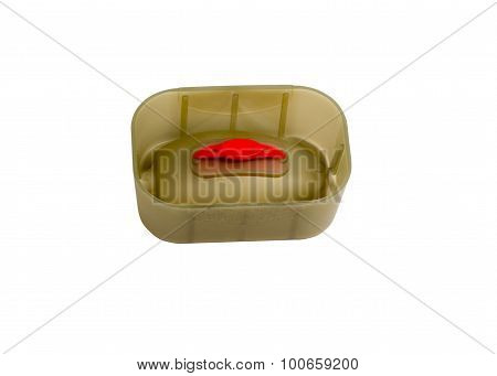 Mould For Fishing Feeder Isolated On A White Background